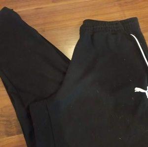 Men's sz Large PUMA joggers, zips at ankle, EUC